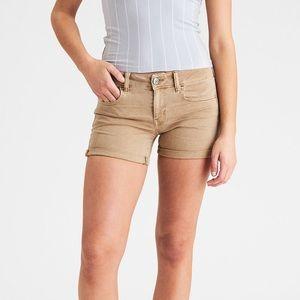 AEO Twill x Midi Shorts (Olive)